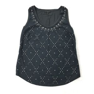 J.Crew | Studded Metallic Tank Top